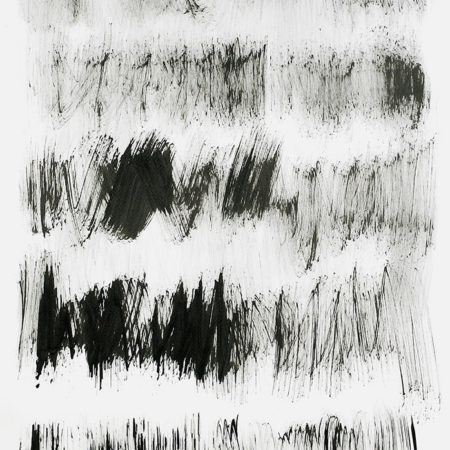 Contemporary abstract black and white drawing