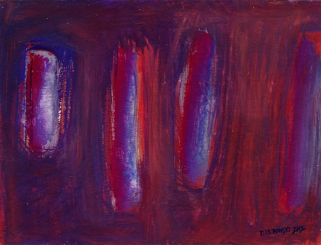 abstract landscape paintings gouache