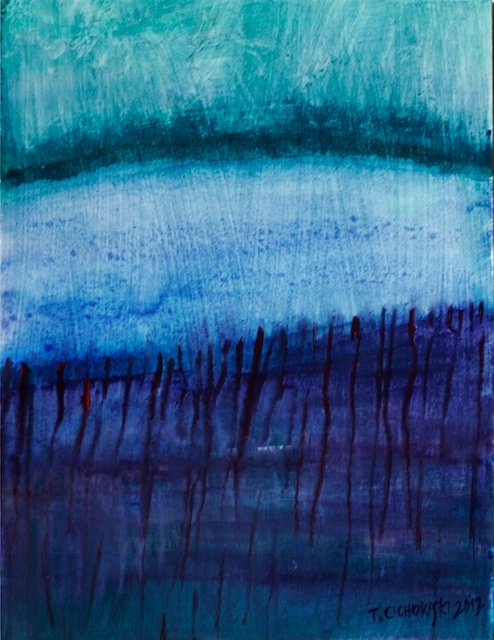 gouache abstract landscape paintings for sale | Contemporary ...