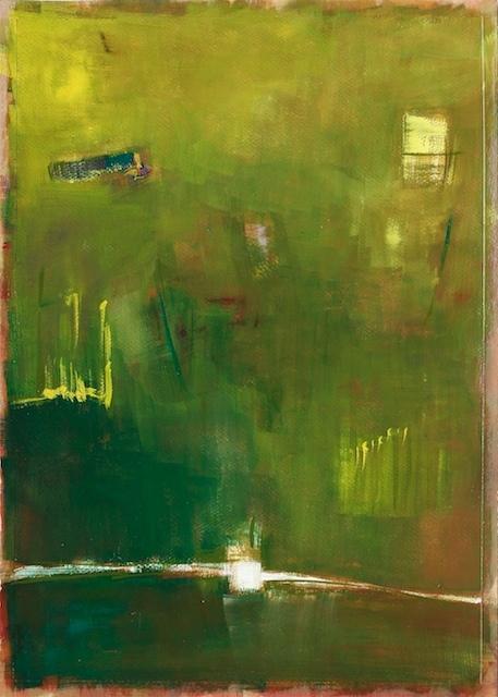 gouache abstract landscape