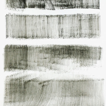 Contemporary large abstract black and white drawing