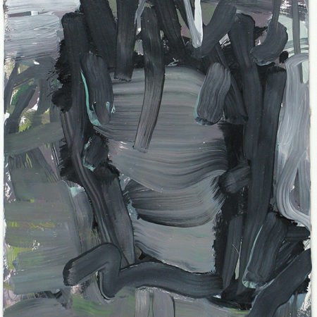 Small abstract black white painting
