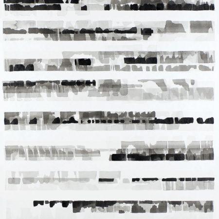 Grey minimalist abstract drawing